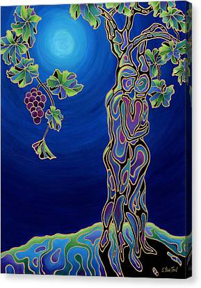 Romance On The Vine Canvas Print by Sandi Whetzel