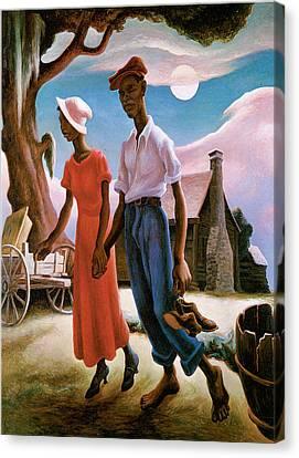 Romance Canvas Print by Thomas Hart Benton
