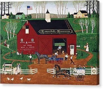 Romanchuk Restoration Canvas Print by Joseph Holodook