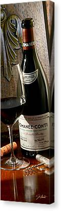 White Wine Canvas Print - Romanee Conti by Jon Neidert