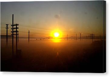 Canvas Print featuring the photograph Romanian Sunset by Giuseppe Epifani