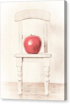 Chair Canvas Print - Romantic Apple Still Life by Edward Fielding
