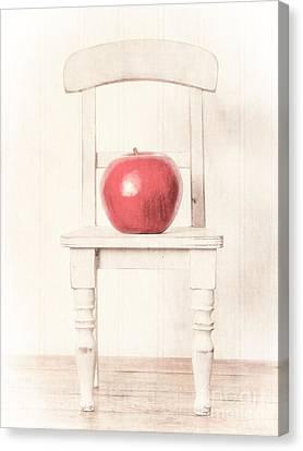 Chairs Canvas Print - Romantic Apple Still Life by Edward Fielding