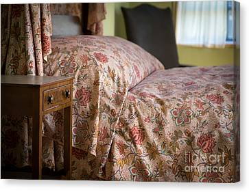 Bed Spread Canvas Print - Romantic Bedroom by Edward Fielding