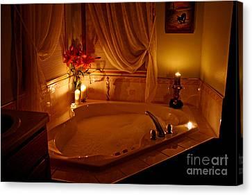 Romantic Bubble Bath Canvas Print