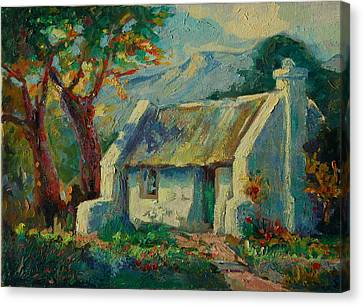 Romantic Cape Cottage Canvas Print by Thomas Bertram POOLE