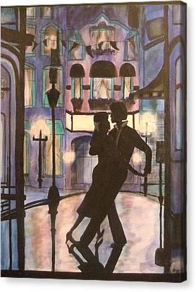 Romantic Dance Canvas Print by Lynne McQueen
