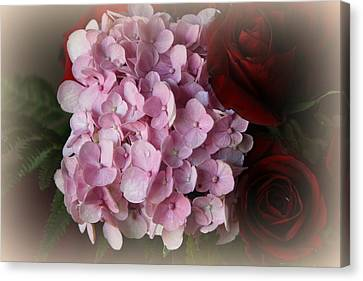Canvas Print featuring the photograph Romantic Floral Fantasy Bouquet by Kay Novy