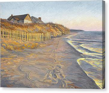 Cape Cod Scenery Canvas Print - Romantic Getaway by Lucie Bilodeau