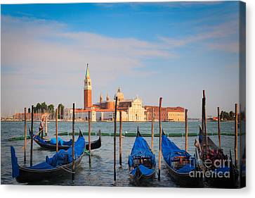 Romantic Gondolas Canvas Print by Inge Johnsson