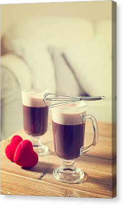 Romantic Irish Coffees Canvas Print by Amanda Elwell