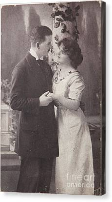 Romantic Love In 1916 Canvas Print by Patricia Hofmeester