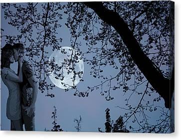 Romantic Moon 2  Canvas Print by Angel Jesus De la Fuente