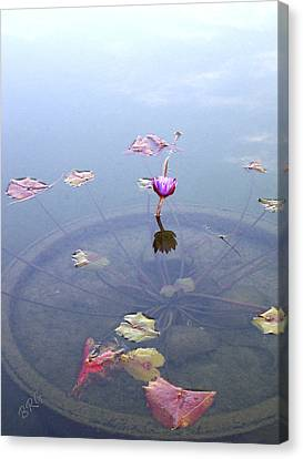 Lotus Leaves Canvas Print - Romantic Pond by Ben and Raisa Gertsberg