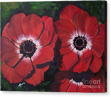 Canvas Print featuring the painting Romantic Red by Lucia Grilletto