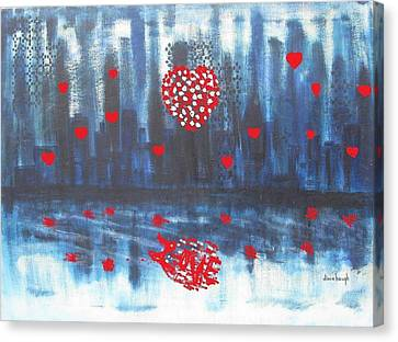 Romantic Reflection Canvas Print by Diane Pape