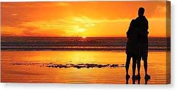 Canvas Print featuring the photograph Romantic Sunset  by Chad Pooschke