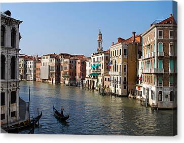 Romantic Venice Canvas Print by Terence Davis