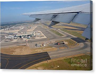Rome Airport From An Aircraft Canvas Print by Sami Sarkis