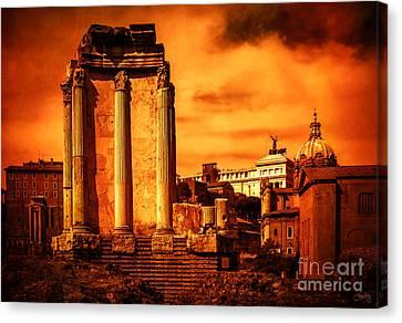 Rome Burning Canvas Print