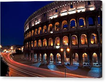 Rome Coliseum Canvas Print by Jeff Lewis