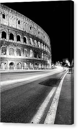 Rome Colloseo Canvas Print by Nina Papiorek