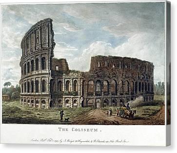 Rome Colosseum, 1797 Canvas Print