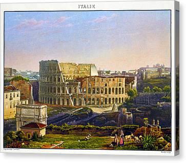 Rome Colosseum, 1842 Canvas Print