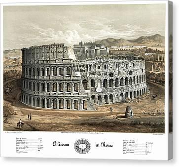 Rome Colosseum, 1872 Canvas Print