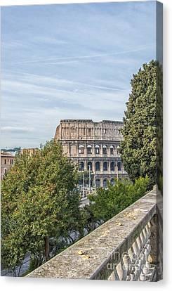 Rome Colosseum From Domus Aurea Park Canvas Print