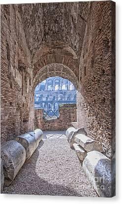 Rome Colosseum Interior 01 Canvas Print