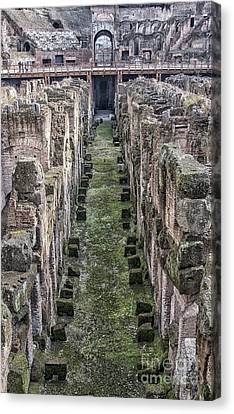Rome Colosseum Interior 02 Canvas Print