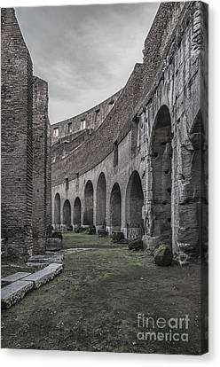 Rome Colosseum Interior 04 Canvas Print