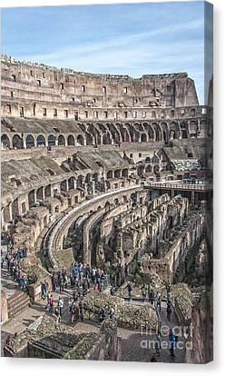 Rome Colosseum Interior 05 Canvas Print