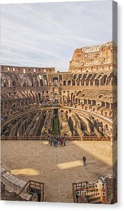 Rome Colosseum Interior View Canvas Print by Antony McAulay