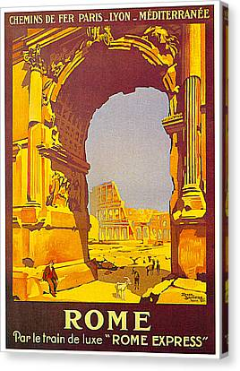 Rome Express 1921 Canvas Print by Roger Borders