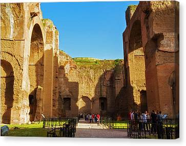 Caracalla Canvas Print - Rome, Italy. Baths Of Caracalla by Ken Welsh