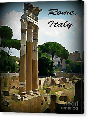 Rome Italy Poster Canvas Print by John Malone