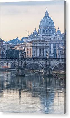 Rome Saint Peters Basilica 02 Canvas Print by Antony McAulay