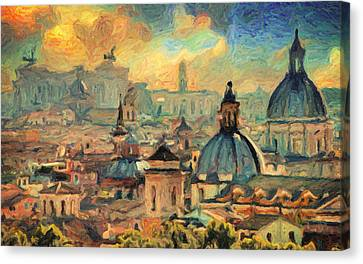 Rome Canvas Print by Taylan Apukovska