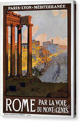 Rome Vintage Travel Poster Canvas Print by Jon Neidert