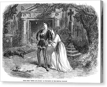 Romeo And Juliet, 1864 Canvas Print by Granger
