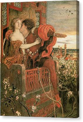 Romeo And Juliet Canvas Print by Ford Madox Brown