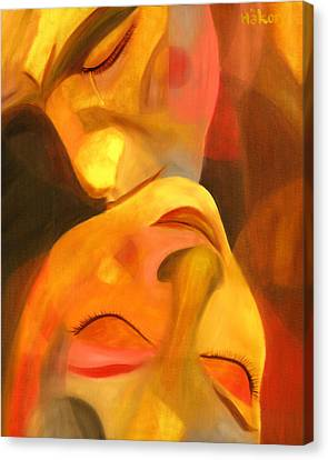 Passionate Lovers Canvas Print - Romeo And Juliet by Hakon Soreide