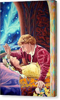 Canvas Print featuring the painting Romeo And Juliet  by Matt Konar