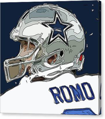 Romo Comic Style Abstract Canvas Print by David G Paul