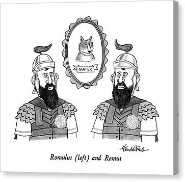 Romulus Canvas Print by J.B. Handelsman