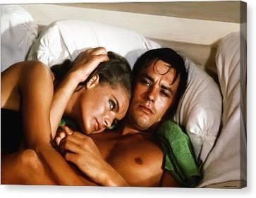 Romy Schneider And Alain Delon Canvas Print