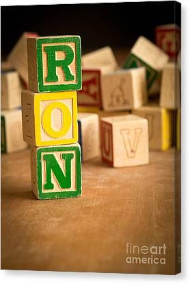 Ron - Alphabet Blocks Canvas Print by Edward Fielding