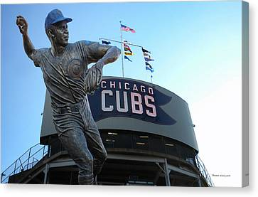 Ron Santo Chicago Cubs Statue Canvas Print by Thomas Woolworth